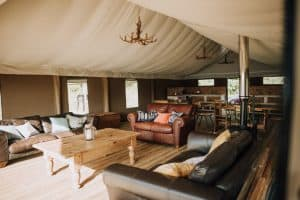 group glamping communal areas